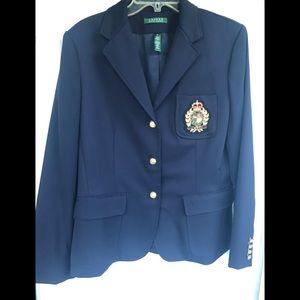 🐎 LAUREN Ralph Lauren Navy Blazer with Crest 🐎